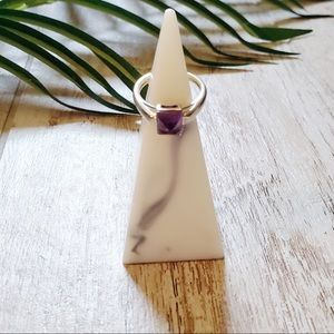 Fragrant Jewels Princess Cut Amethyst Ring